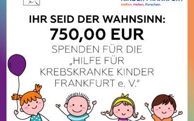 Spende über 750€